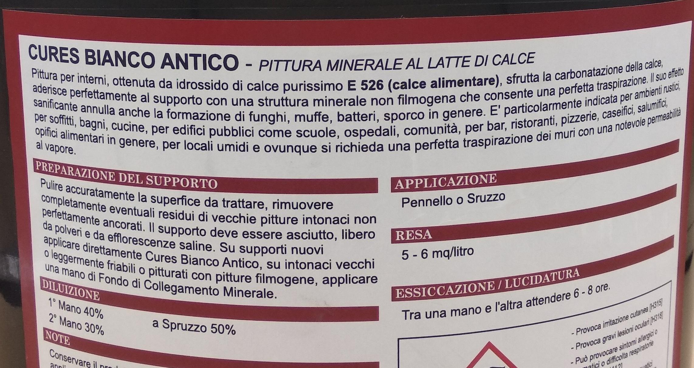 Pittura Minerale Al Latte Di Calce Bianco Antico Tecnorivest Starcolor