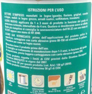 Sayerlack HI221X impregnante acqua effetto cera colori vari etichetta indicazioni