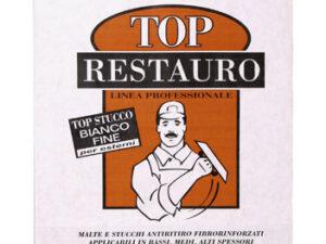 Stucco rasante in polvere bianco medio Top Restauro Tecnorivest etichetta