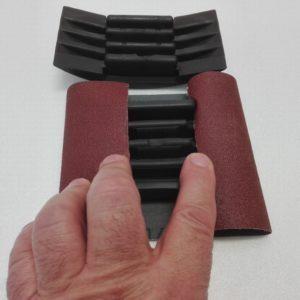 Tampone per carta abrasiva in gomma semplicissimo da usare – art. 031M - applicazione carta