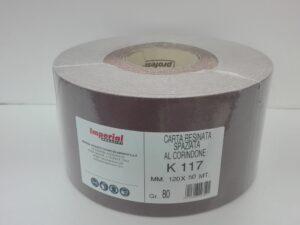 Carta abrasiva resinata antistatica al corindone Imperial K117 etichetta