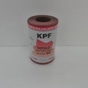 Mini rotoli carta abrasiva polivalente rossa al corindone