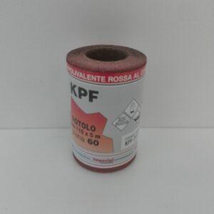 Mini rotoli carta abrasiva polivalente rossa al corindone etichetta fronte