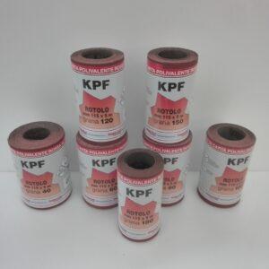 Mini rotoli carta abrasiva polivalente rossa al corindone set di confezioni