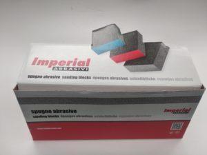 Spugnette abrasive per carteggiare e lucidare - Imperial scatola chiusa