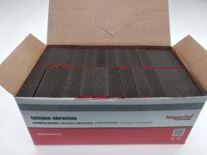 Spugnette abrasive per carteggiare e lucidare - Imperial scatola