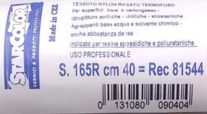 Ricambio rullo in nylon rasato per resine per pavimenti extra largo dettaglio etichetta