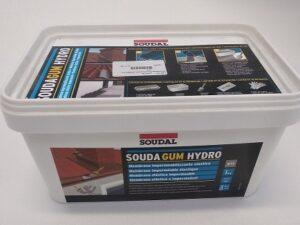 Impermeabilizzante liquido Soudagum Hidro Soudal 1 kg + Kit per l'applicazione