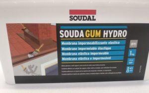 Impermeabilizzante liquido Soudagum Hidro Soudal 1 kg etichetta fronte