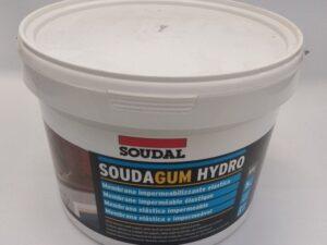 Membrana liquida impermeabilizzante per superfici orizzontali e verticali Soudagum Hidro Soudal 5 kg fronte