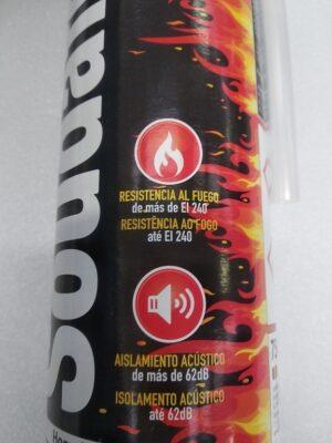 Schiuma poliuretanica antifuoco Soudafoam Fire Range (750 ml) - Soudal - etichetta fronte