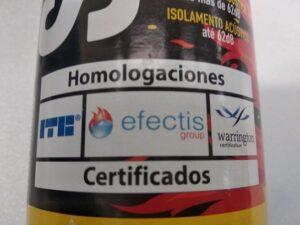 Schiuma poliuretanica antifuoco Soudafoam Fire Range (750 ml) - Soudal - etichetta omologazioni