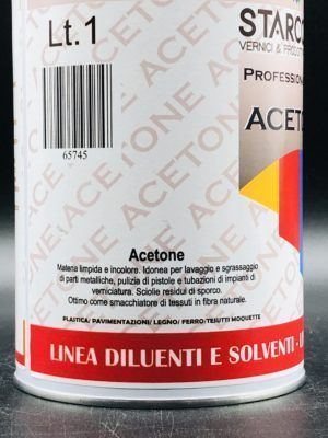 Acetone per vernici professionale 1 litro etichetta bassa