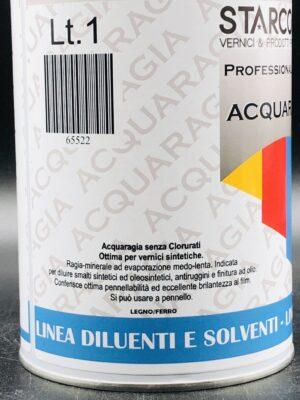 Acquaragia minerale per vernici e smalti sintetici 1 litro etichetta laterale